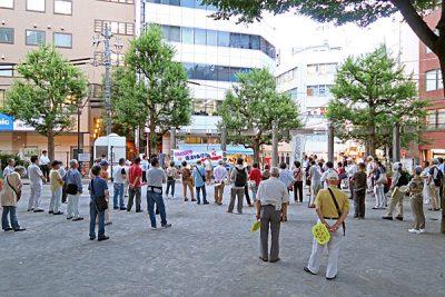 6月27日、柏木公園をデモ出発地として使用している様子
