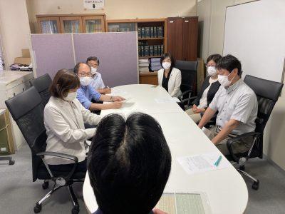 東京オリンピック・パラリンピック学校連携観戦の中止を求める申し入れを6月21日に行いました